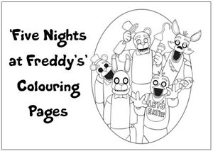 FIVE NIGHTS AT FREDDY'S Colouring Pages -20 Sheets- Perfect for Rainy Day Craft!