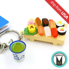 New Japan Tokyo Disney Resort Limited Mickey Mouse Sushi Tray Green Tea Keychain