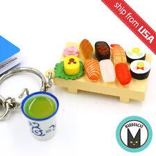 New Japan Tokyo Disney Resort Limited Mickey Mouse Sushi Tray Green Tea Keychain
