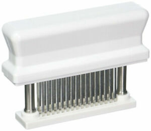 WYZworks 48 Blade Meat Tenderizer Mechanical Tool Jaccarding Cuts of Meats White