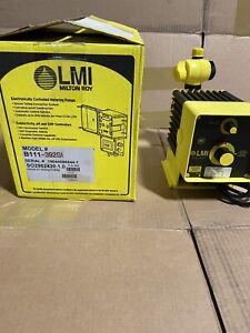 LMI B111-392SI Chemical Metering Pump 1.6 GPH, 150 psi, PVDF, Manual Control