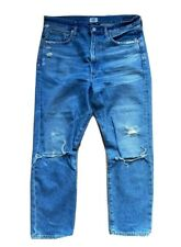 CITIZENS OF HUMANITY DREE Crop High Rise Slim Straight Distressed Jean 30