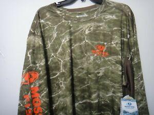 Mossy Oak Fishing Men Camo Long Sleeve Shirt Sun Protection 50 + Size 2XL