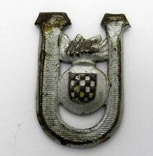 WWII Original Croatia Military Cap Badge NDH