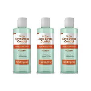 Neutrogena Oil-Free Acne Stress Control Toner 8 oz. (Pack of 3) EXP 09/2020
