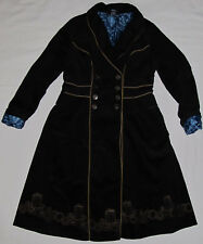 New BBC Dr Who Tardis Corduroy Lined Long Vintage Style Trench Coat Size Large