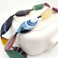 Chunky Dyed Agate Necklace Modern Statement Jewellery