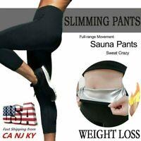 Women Neoprene Shaper Leggings Sweat Sauna Slimming Pants Thermo Weight Loss US