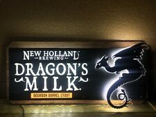 Rare New Holland Brewery Dragon's Milk Led Light Beer Sign/ Bar/ Game Room/brew