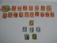 Vintage Belgium Belgique King Leopold 11 Lot Of 24 Cancelled 1912's Stamps
