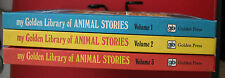 MY GOLDEN LIBRARY OF ANIMAL STORIES Volumes 1 - 3 (H/cover, 1979)
