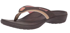 Powerstep Fusion Women Sandals Flip-Flop Supportive Orthotic Sandal Color Brown