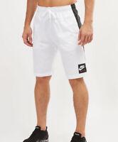 Nike Sportswear Men's Air Knee Length Woven Shorts White Black 928633-100 $70