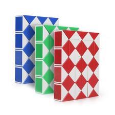 48 Magic Ruler Cube Twist Snake Folding Puzzle Kids Educational Intelligence Toy