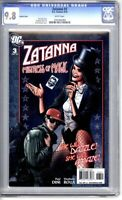 Zatanna 3 CGC Graded 9.8 NM/MT Brian Bolland 1:10 Variant DC Comics 2010