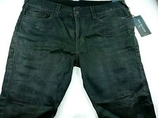 True Religion Relaxed Skinny Distressed Ripped Shredded Jeans Sz 40 x 34