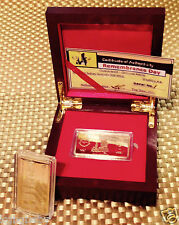 Remembrance Day Ingot~ Gold Plated collectable - C.O.A.incl. Display Box