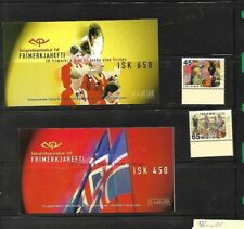 2 ICELAND  stamp Europa CEPT  booklets  1998  +2 stamps