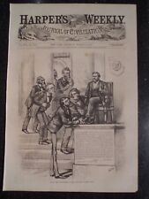 What The Senatorial Cabal Can Not Blow Over By Thomas Nast Harper's Weekly 1872