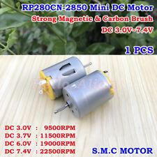 DC 3V 5V 6V 7.4V 22500RPM High Speed Carbon Brush Mini 280 DC Motor DIY Toy Car