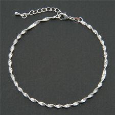 925 Silver Fashion Anklet Chain Ankle Bracelet Women Foot Jewelry