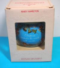 "Hallmark Keepsake ""Mary Hamilton Christmas 1981"" Glass Ball Ornament"