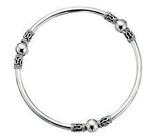 925 Sterling Silver Indo Style Bangle