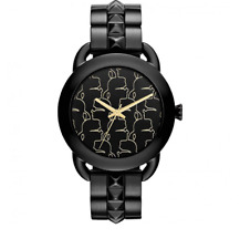 Karl Lagerfeld Stainless Steel Watch Black Gold Women 5119