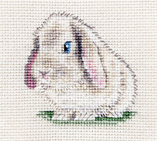 Lop Eared Bunny Rabbit Counted Cross Stitch Kit All Materials Needed