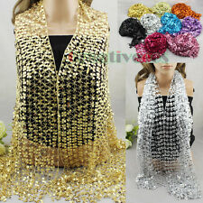 Fashion Womens Luxury Shining Sequins Mesh Solid Color Long Scarf Wrap Scarf New