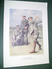 VANITY FAIR PRINT GOLFERS THE TRIUMVIRATE  BAIRD  VARDON GOLFING