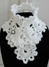 Beautiful White Queen Anne's Lace Handmade Acrylic Crochet Neck Warmer