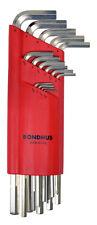 1.27-10mm XLong Arm Hex End L-Wrenches 15pc Set w/BriteGuard™ Bondhus USA #17195