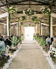 10meters*160cm BIG Natural Burlap Hessian Sewn Side Wedding Aisle Runner