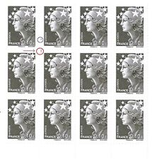 TIMBRE VARIETES : MARIANNE BEAUJARD : 0,10 GRIS (Probléme Perforation)