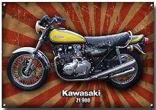KAWASAKI Z1 900 MOTORCYCLE METAL SIGN,CLASSIC JAPANESE STREET SUPERBIKE,RETRO