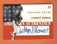 2002 UD AMERICAN AUTHENTICS LEVEL 1 ANTHONY THOMAS AUTO #ST1-AT CHICAGO BEARS