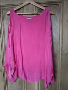 Hot Pink Floaty Summer Top Size 12