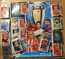 TOPPS CHAMPIONS LEAGUE 2017/18  KOMPLETT +-LEERALBUM  TOP