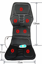 Heated Back Massage Seat Topper Car Home Office