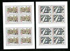 LOT 81661 MINT NH 2919-20 TWO SHEETS : BUILDINGS FROM CZECHOSLOVAKIA