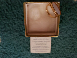 Avon Mother of Pearl ring x 2