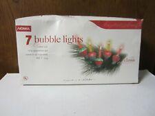Vintage Christmas Holiday Noma 7 bubble lite light set - catalog 28077 - 7 feet