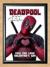 Deadpool Ryan Reynolds Avengers Signed Autographed A4 Print Photo Poster cd dvd