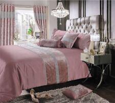 Samt Strass Gummiband Kunstseide Pink Kingsize-Bettbezug