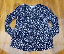 Boden spotty pleat front crepe Flora blouse. UK 8 WA755 Excellent condition