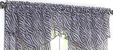 "BRAND NWT Black & White Animal Print Ascot Chiffon Window VALANCE 55""W x 21"" L"