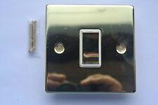 TD Line BORDO QUADRATO OTTONE LUCIDO 10ax 1g interruttore singolo in ottone ROCKERS bianco ins