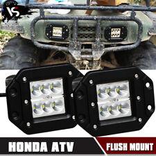 Pair 36W FLOOD LED Cube Pod Work Light Flush Mount Offroad HONDA ATV Square