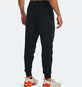 Under Armour Men's Project Rock Unstoppable Black Pants  Size Large